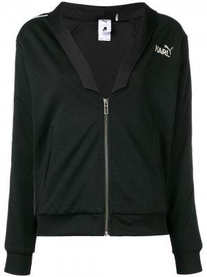 Куртка-бомбер на молнии с логотипом Karl Lagerfeld. Цвет: черный
