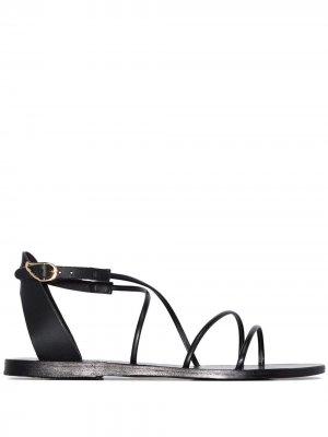 Сандалии Melovia с ремешками Ancient Greek Sandals. Цвет: черный