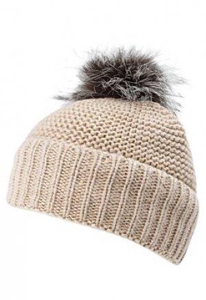 Вязаная шапка с меховым помпоном Effre