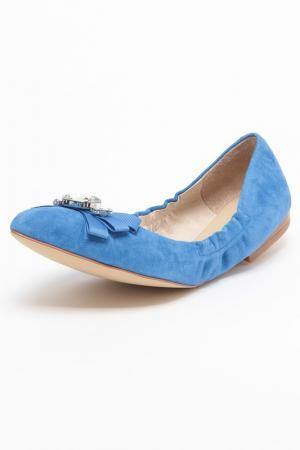 Балетки ELMONTE. Цвет: синий