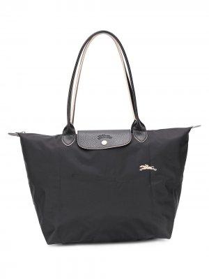 Большая сумка-тоут Le Pliage Club Longchamp. Цвет: черный