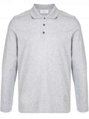 Рубашка поло с длинными рукавами Cerruti 1881. Цвет: серый