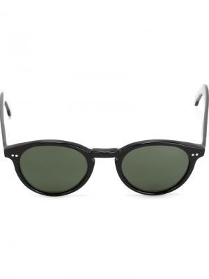 Солнцезащитные очки в круглой оправе Eleventy. Цвет: чёрный
