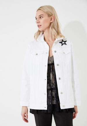 Куртка джинсовая Twin-Set Simona Barbieri. Цвет: белый