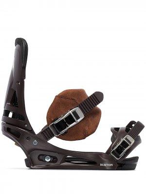 Крепления для сноуборда Malavita EST Burton AK. Цвет: коричневый