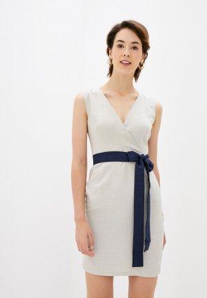 Платье Maurini. Цвет: бежевый