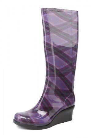 Резиновые сапоги G&G. Цвет: фиолетовый
