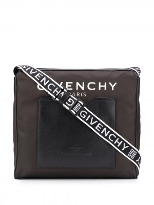Сумка-мессенджер с логотипом Givenchy. Цвет: черный