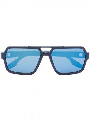 Солнцезащитные очки-авиаторы Prada Eyewear. Цвет: синий