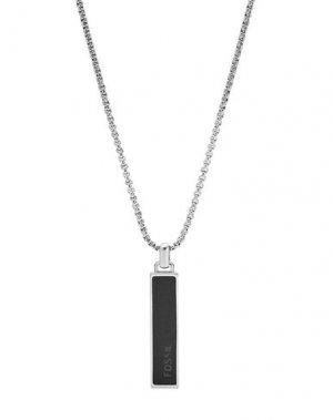 Ожерелье FOSSIL. Цвет: серебристый