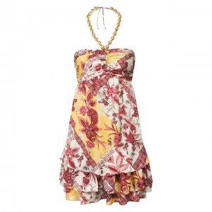 Мини-платье Alexis. Цвет: разноцветный