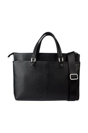 Сумка-портфель Dimanche. Цвет: черный