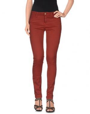 Джинсовые брюки ACQUAVERDE. Цвет: красно-коричневый