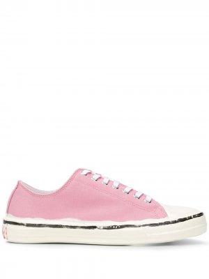 Кеды на шнуровке Marni. Цвет: розовый