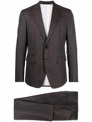 Костюм-двойка с однобортным пиджаком Dsquared2. Цвет: коричневый