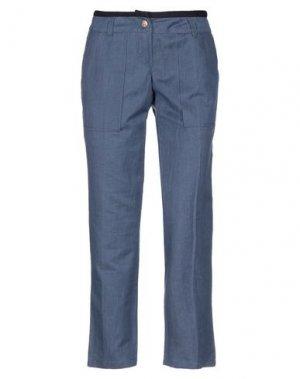 Джинсовые брюки-капри FEMME by MICHELE ROSSI. Цвет: синий