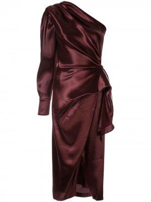 Платье Chanda на одно плечо Altuzarra. Цвет: красный
