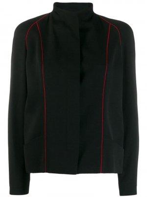 Пиджак с полосками Jean Louis Scherrer Pre-Owned. Цвет: черный
