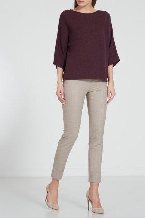 Бордовый пуловер с люрексом Fabiana Filippi. Цвет: фиолетовый