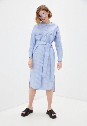 Платье Katya Erokhina. Цвет: голубой