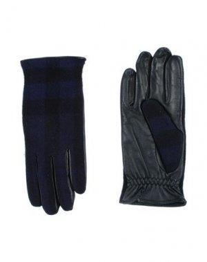 Перчатки BURBERRY. Цвет: темно-синий
