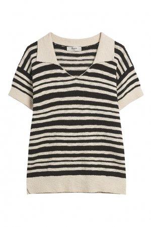 Пуловер с короткими рукавами Bonpoint. Цвет: черный