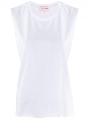Топ без рукавов с логотипом Natasha Zinko. Цвет: белый