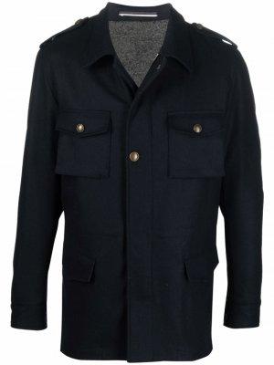 Куртка-рубашка на пуговицах Reveres 1949. Цвет: синий