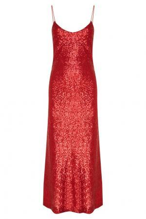 Красное платье с пайетками Alexandr Rogov. Цвет: красный
