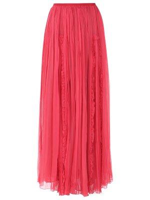 Шелковая юбка-макси GALLIANO