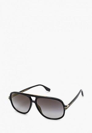 Очки солнцезащитные Marc Jacobs 468/S 807 GREY SF GD SP. Цвет: черный