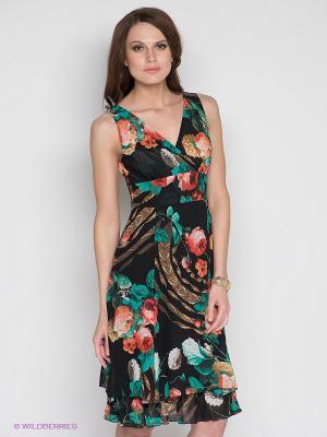 Платье DRS Deerose. Цвет: черный, бежевый, бирюзовый, красный