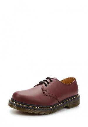 Ботинки Dr. Martens 3 Eye Gibson. Цвет: красный