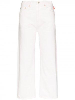Укороченные джинсы Pierce прямого кроя Denimist. Цвет: белый