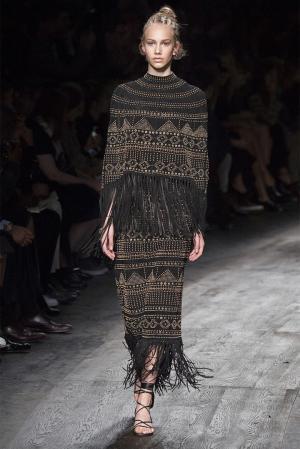 Замшевая юбка Valentino. Цвет: черный