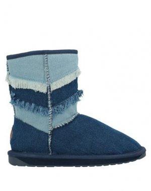 Полусапоги и высокие ботинки EMU. Цвет: синий