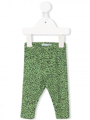 Легинсы с леопардовым принтом Bobo Choses. Цвет: зеленый
