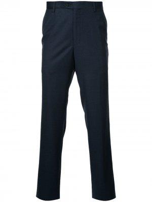 Классические брюки узкого кроя Gieves & Hawkes. Цвет: синий