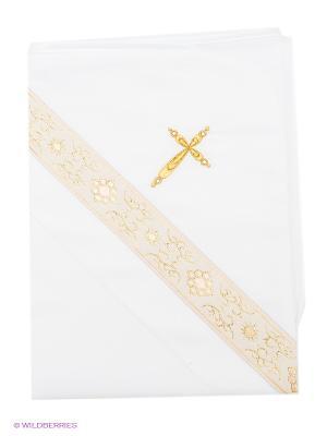 Крестильное полотенце Ангел мой. Цвет: белый, золотистый