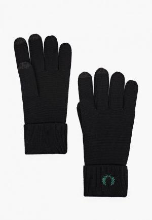 Перчатки Fred Perry Touch srcreen. Цвет: черный