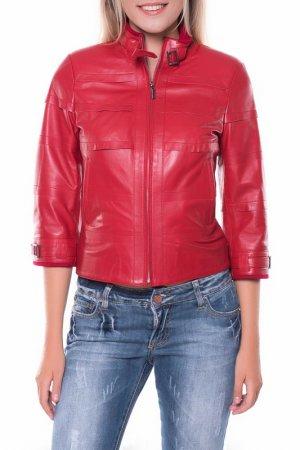 Кожаная куртка GIORGIO DI MARE. Цвет: красный