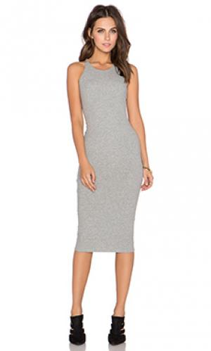 Платье миди GLAMOROUS. Цвет: серый