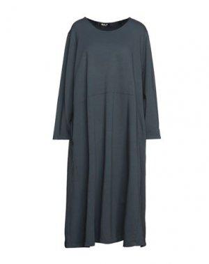 Платье миди MAMA B.. Цвет: стальной серый
