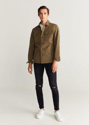 Нарочно рваные джинсы-скинни черного цвета - Dylan Mango. Цвет: серый