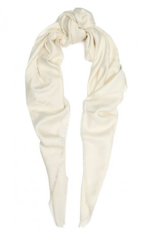 Платок из смеси шелка и шерсти Givenchy. Цвет: белый