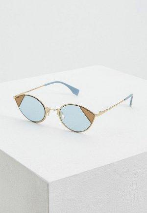 Очки солнцезащитные Fendi FF 0342/S QWU. Цвет: золотой