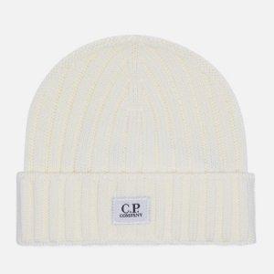 Шапка Extra Fine Merino Wool Logo C.P. Company. Цвет: белый