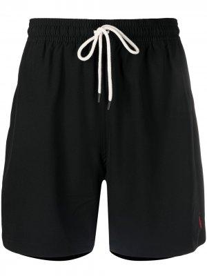Плавки с вышитым логотипом Polo Ralph Lauren. Цвет: черный