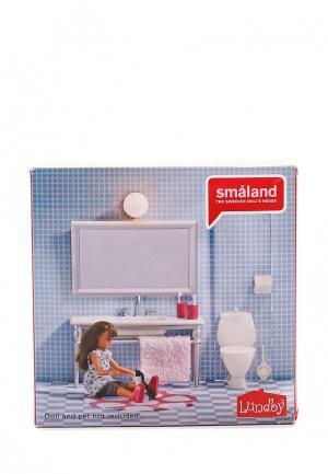 Набор игровой Lundby Аксессуары для домика. Смоланд. Ванная с 1 раковиной... Цвет: разноцветный