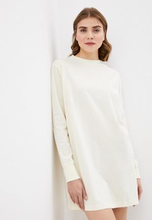 Платье Nike W NSW ESSNTL DRESS LS. Цвет: бежевый